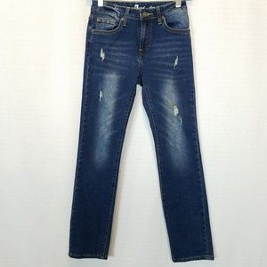 7FAM | Slimmy Distressed Skinny Jeans 24